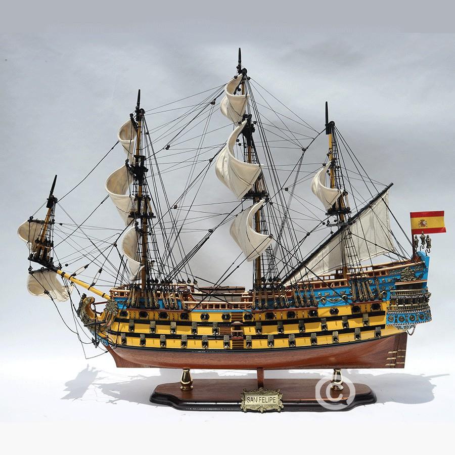 Mô hình Thuyền Gỗ SAN FELIPE PAINTED
