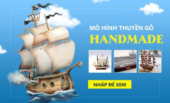 banner mo hinh thuyen go