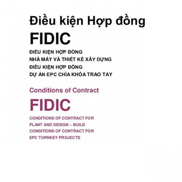 Sách Tài Liệu Hợp Đồng FIDIC full bộ