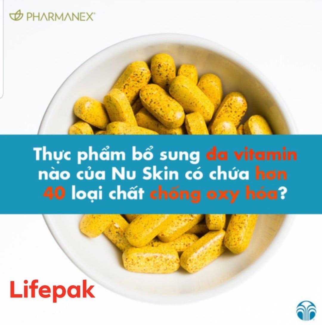 LIFEPAK NU SKIN thực phẩm bảo vệ sức khỏe và chống lão hoá.