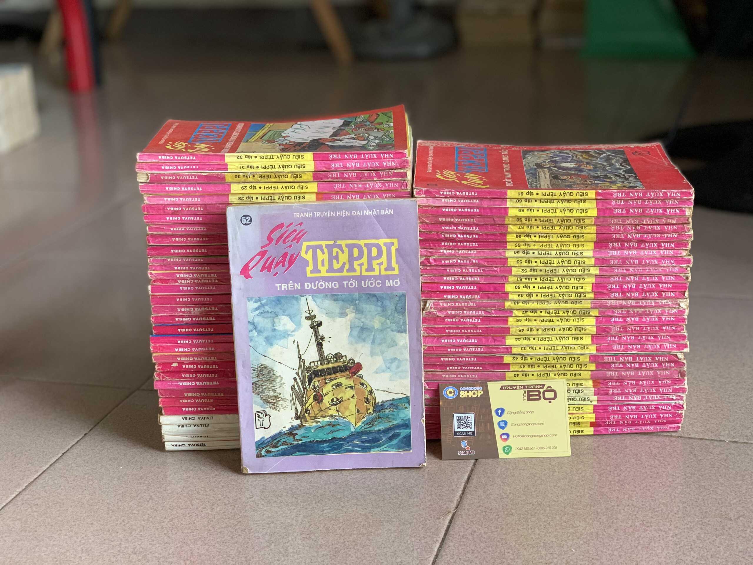 Truyện Siêu quậy Teppi đời đầu 62 tập giá rẻ