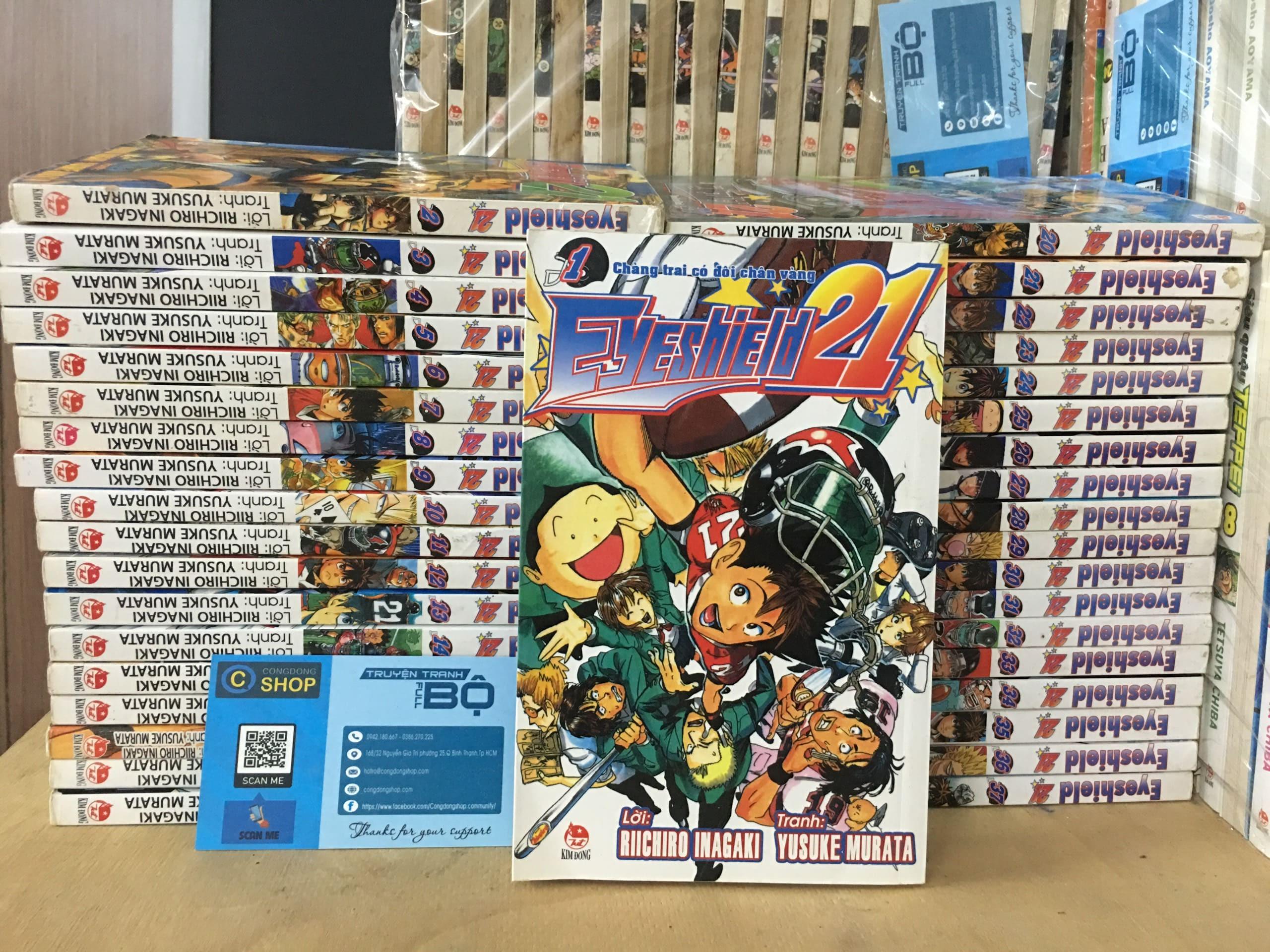 Truyện Tranh Eyeshield 21 Trọn Bộ 37 tập giá rẻ