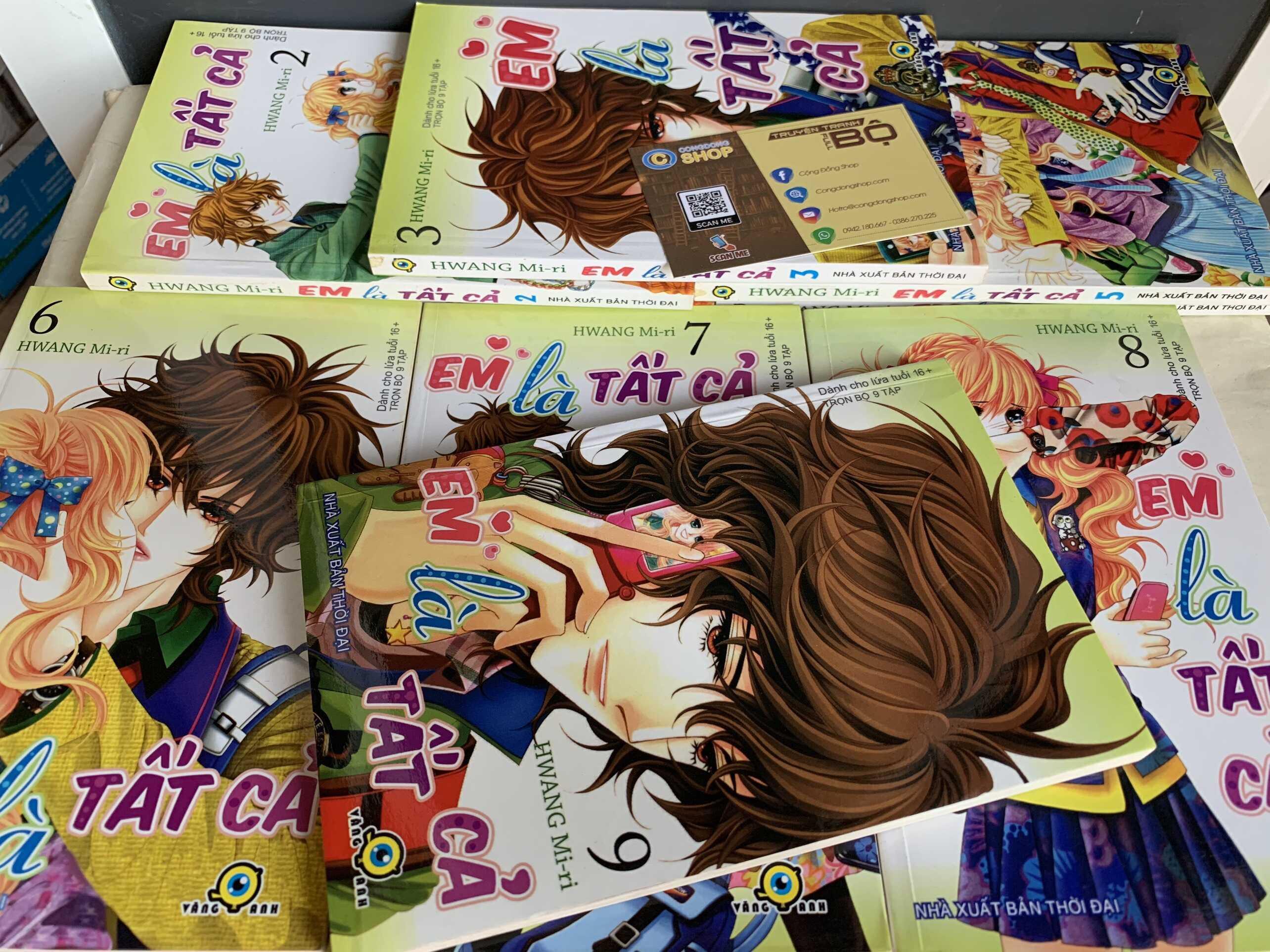 Truyện Em Là Tất Cả Full bộ giá rẻ | Congdongshop mua bán truyện tranh