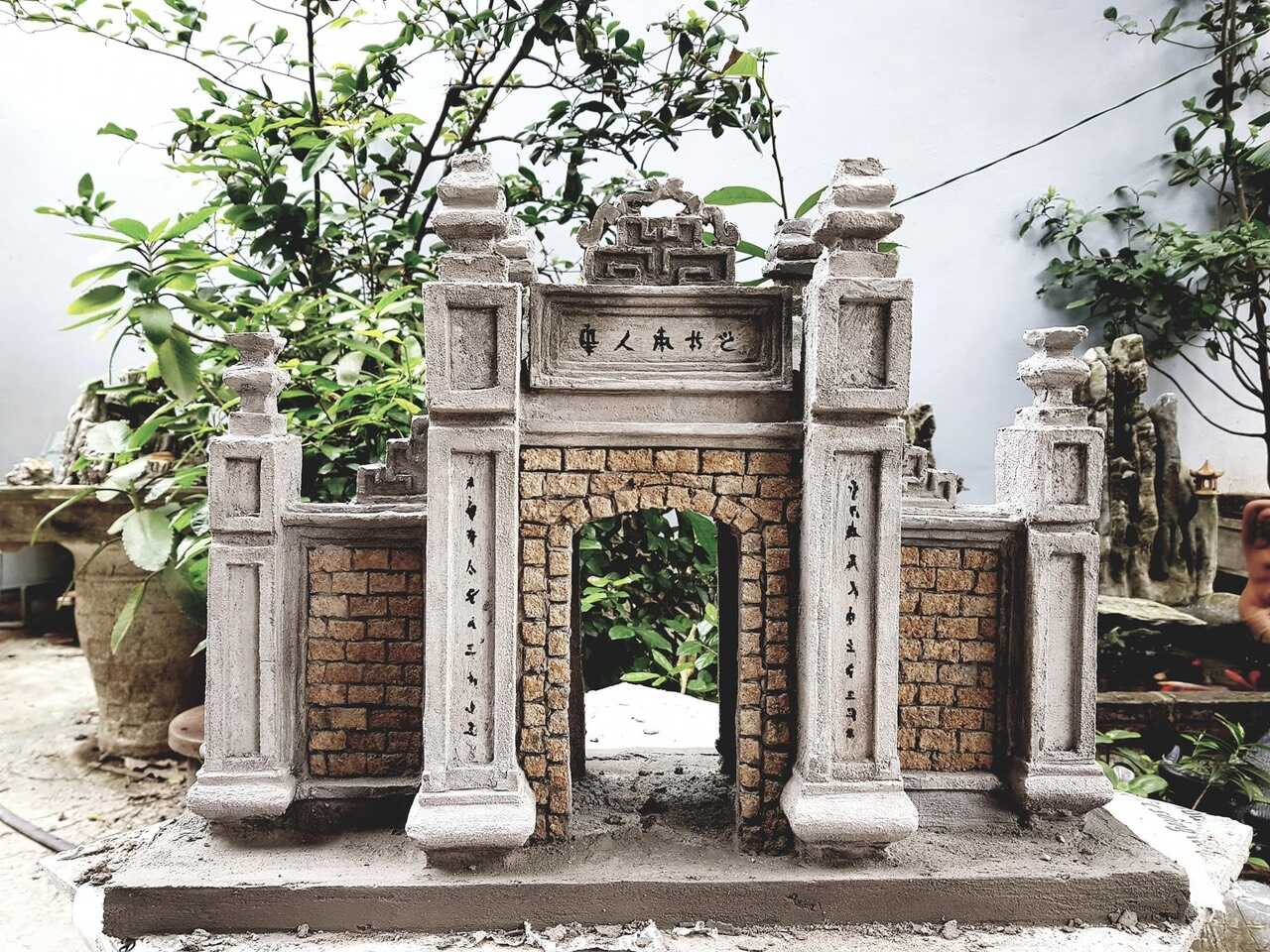 Mô hình Tiểu Cảnh Cổng Làng Cổ Việt Nam