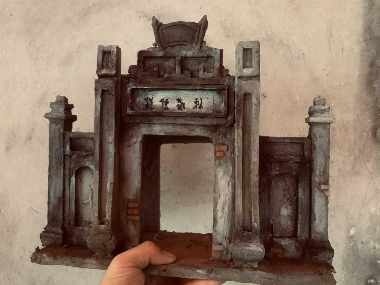 Tiểu Cảnh Kiến Trúc Cổ Việt Nam Cổng Làng
