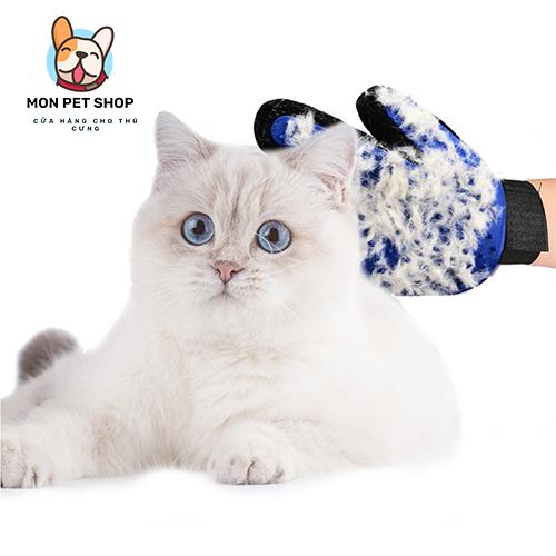 Găng Tay Chải Lông Rụng Cho Thú Cưng Chó Mèo