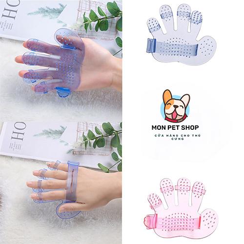 Găng tay tắm chải lông cho chó mèo