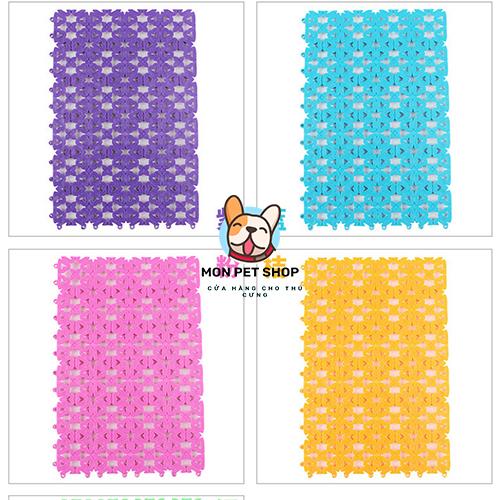 Tấm lót chuồng cho thú cưng bằng nhựa nhiều màu
