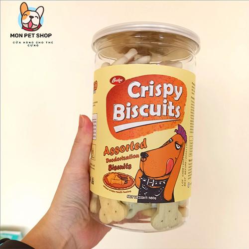 Bánh thưởng hình xương Crispy Biscuits 380g