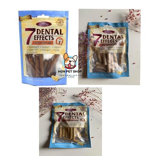 Bánh thưởng xương nhai làm sạch răng 7 Dental 60g