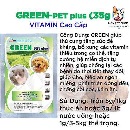 Bột Bổ Sung Vitamin Tổng Hợp GREEN Pet Plus