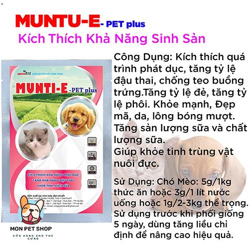 Bột Kích Thích Khả Năng Đậu Thai Munti-E Pet Plus