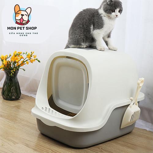 Nhà vệ sinh cho mèo có nắp đậy tiện lợi