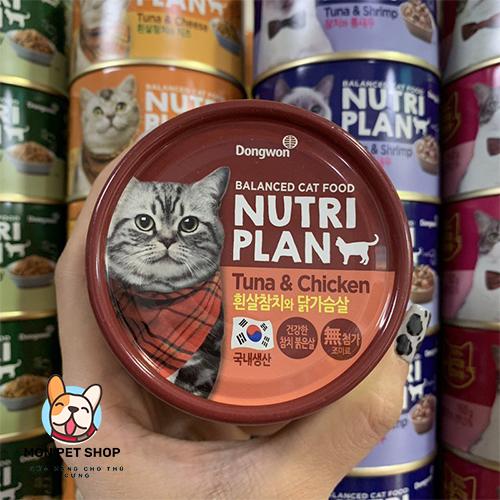 Pate Nutri Plan Thức ăn cho mèo dạng lon