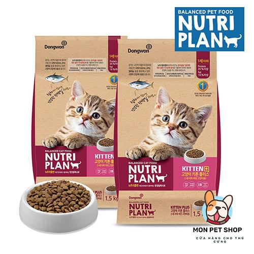 Thức Ăn Hạt Cho Mèo Con Kitten Plus Nutriplan 1.5Kg