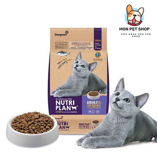 Thức Ăn Hạt Cho Mèo Trưởng Thành Nutriplan 1.5Kg