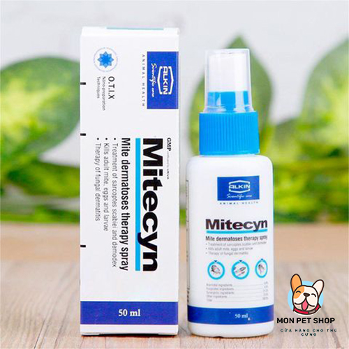 Thuốc Trị Ghẻ Rận Viêm Da Nấm Alkin Mitecyn 50ml