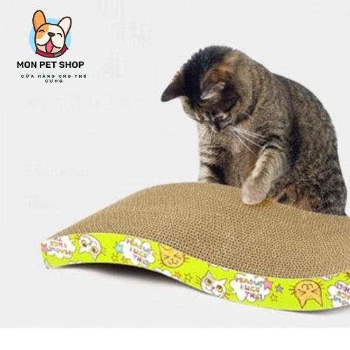 Bàn cào móng cho mèo hình gợn sóng