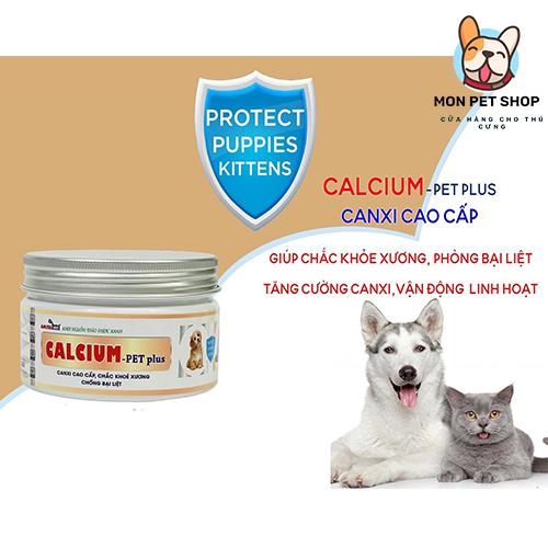Bổ Sung Canxi Chó Mèo Calcium Pet Plus 150g